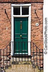 Victorian town house door
