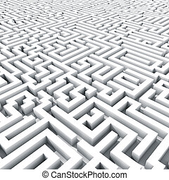 Endless large maze 3D render