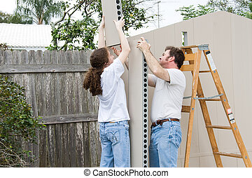 Father Daughter Home Improvement - Father and daughter...