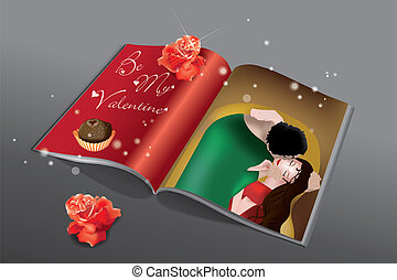 Valentine Magazine - Magazine printed with reinterpretation...