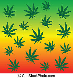bladeren,  rastafarian, achtergrond, Marihuana