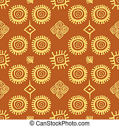 Seamless pattern - Native American seamless pattern vector...