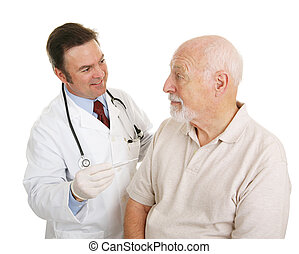 Senior Medical - Temperature Normal - Senior man at the...