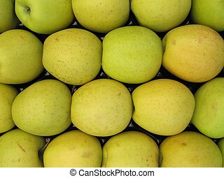 Golden Delicious apples - Golden Delicious apples packed