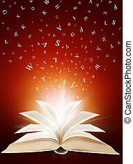 Magic book in letters.