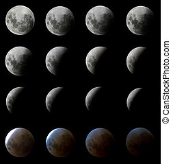 Digitally Enhanced Moon Eclipse in Brazil, February 2008 -...