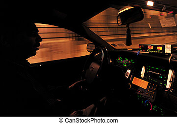 Travel Photos of New York - Manhattan - Yellow taxi one of...