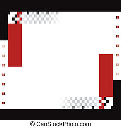 red and black squares and rectangle background