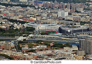 Travel Photos of New York - Manhattan - An aerial view of...