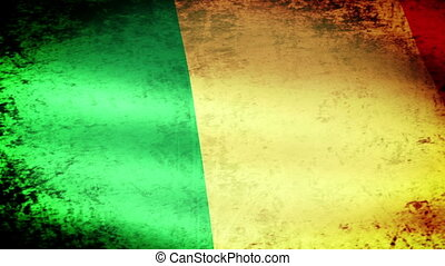 Mali Flag Waving, grunge look