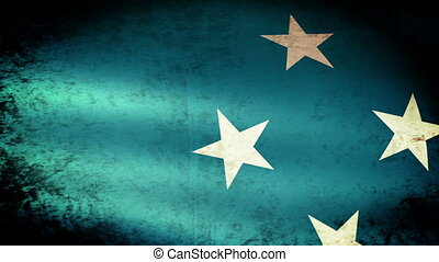 Micronesia Flag Waving