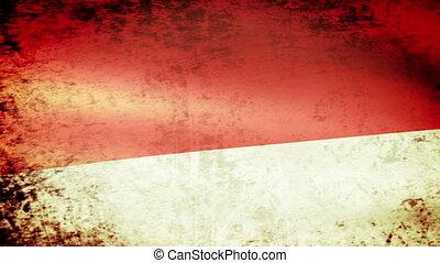 Monaco Flag Waving, grunge look