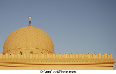 Gharhoud Mosque Full Moon 2 - The full moon lined up with...
