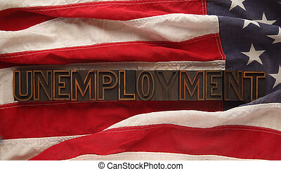 unemployment on American flag