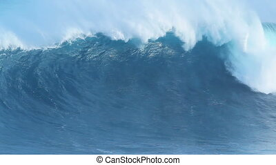 giant blue ocean wave