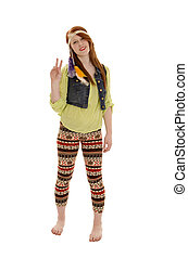 Retro Sixties Peace Love Hipp Chick - A Retro Hippie...
