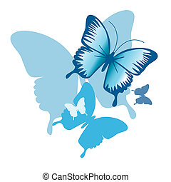 blue butterflies - is an illustration in EPS file