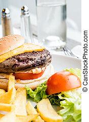hamburger - Cheese burger - American cheese burger with...