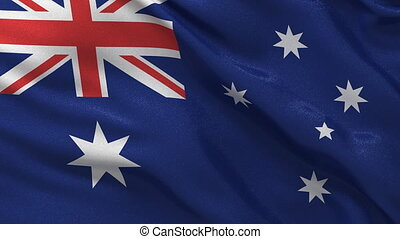 Australian flag seamless loop - Seamless loop of the...