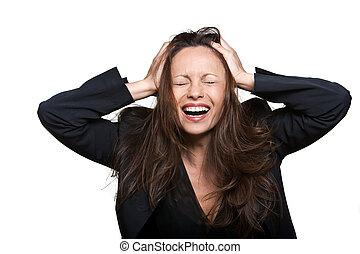 Portrait of beautiful joyful Asian woman - Portrait of a...
