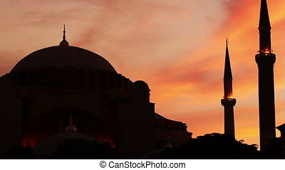 Mosque - Sunset over The Blue Mosque