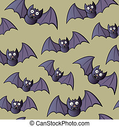 Seamless Flying Bats