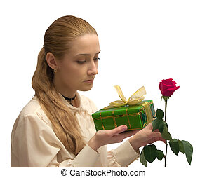 beauty Girl with gifts