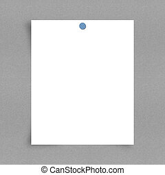note paper on board background