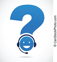customer support with question mark - customer support with...