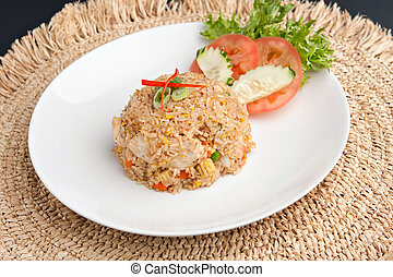 Thai Fried Rice with Chicken - A Thai dish of fried rice...