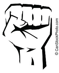 Revolution Hand Vector Illustration