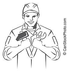 technician Symbol Mascot
