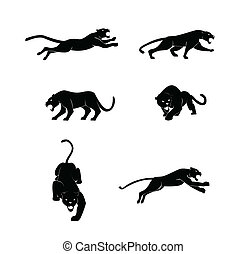 Panther set vector