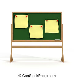Blackboard on a white background. 3D image.