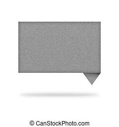 talk tag recycled paper on white background