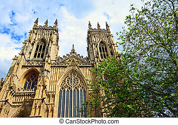 York Minster, gothic cathedral in York