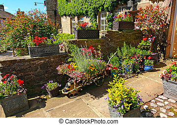 Residential garden landscaping