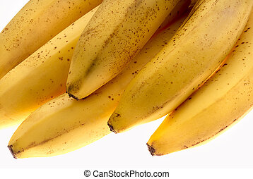 Overripe bananas - The bunch of overripe bananas. Close-up