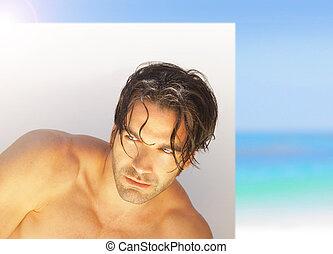 Man with tan