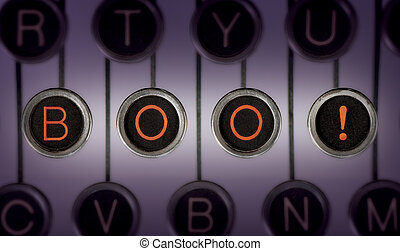 Scary Stories - Image of old typewriter keyboard with...