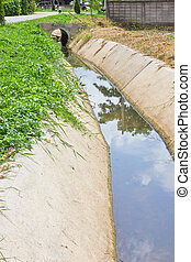 Drainage channel. - This is a Drainage channel have a weed
