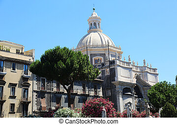 Chiesa di Sant Agata Catania - the church of Saint Agata in...