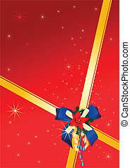 Celebration card - The image of a celebratory bow and...