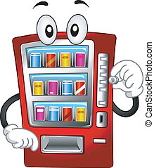 Vending Machine Mascot - Mascot Illustration Featuring a...