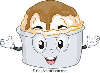 Mashed Potato Mascot - Mascot Illustration Featuring a...