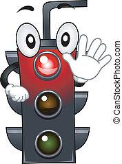 Stoplight Mascot - Mascot Illustration Featuring a Stop...