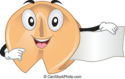 Fortune Cookie Mascot - Mascot Illustration Featuring a...