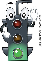 Stoplight Mascot - Mascot Illustration Featuring a Stop...