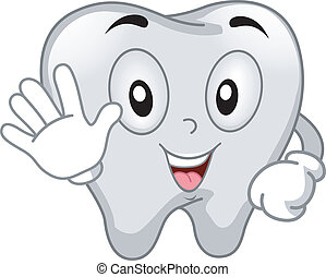 Tooth Mascot - Mascot Illustration Featuring a Tooth Using...