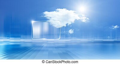 Cloud computing - Technology background, cloud computing,...